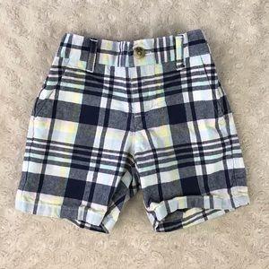 Janie and Jack Plaid Shorts Size 6-12 Months Blue
